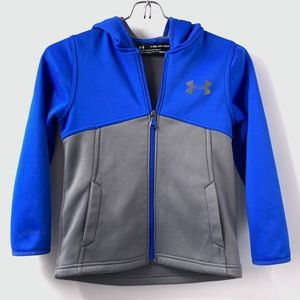 Under Armour Boys XS Softshell Zip Hooded Jacket